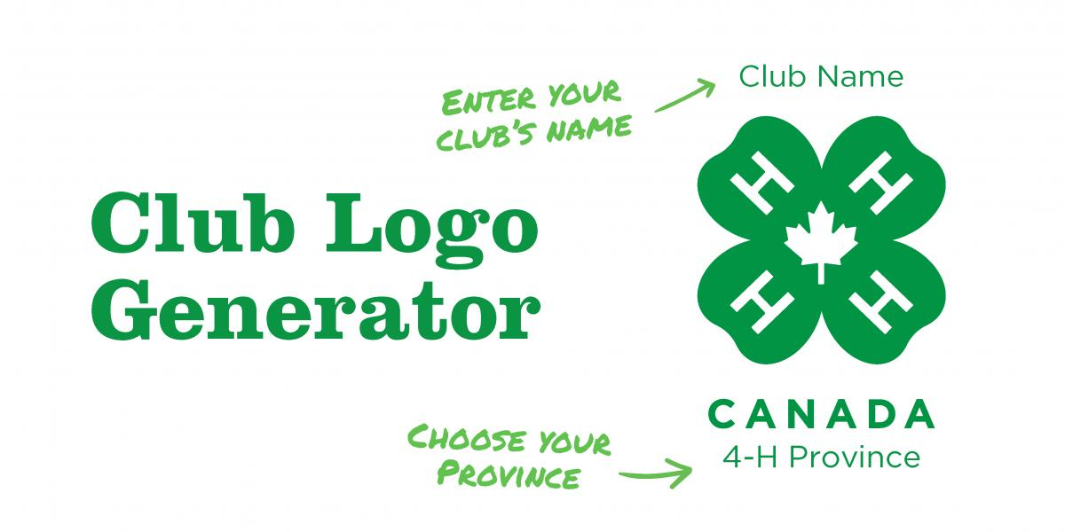 photo relating to Printable 4 H Clover named 4-H Canada Club Brand Generator 4-H