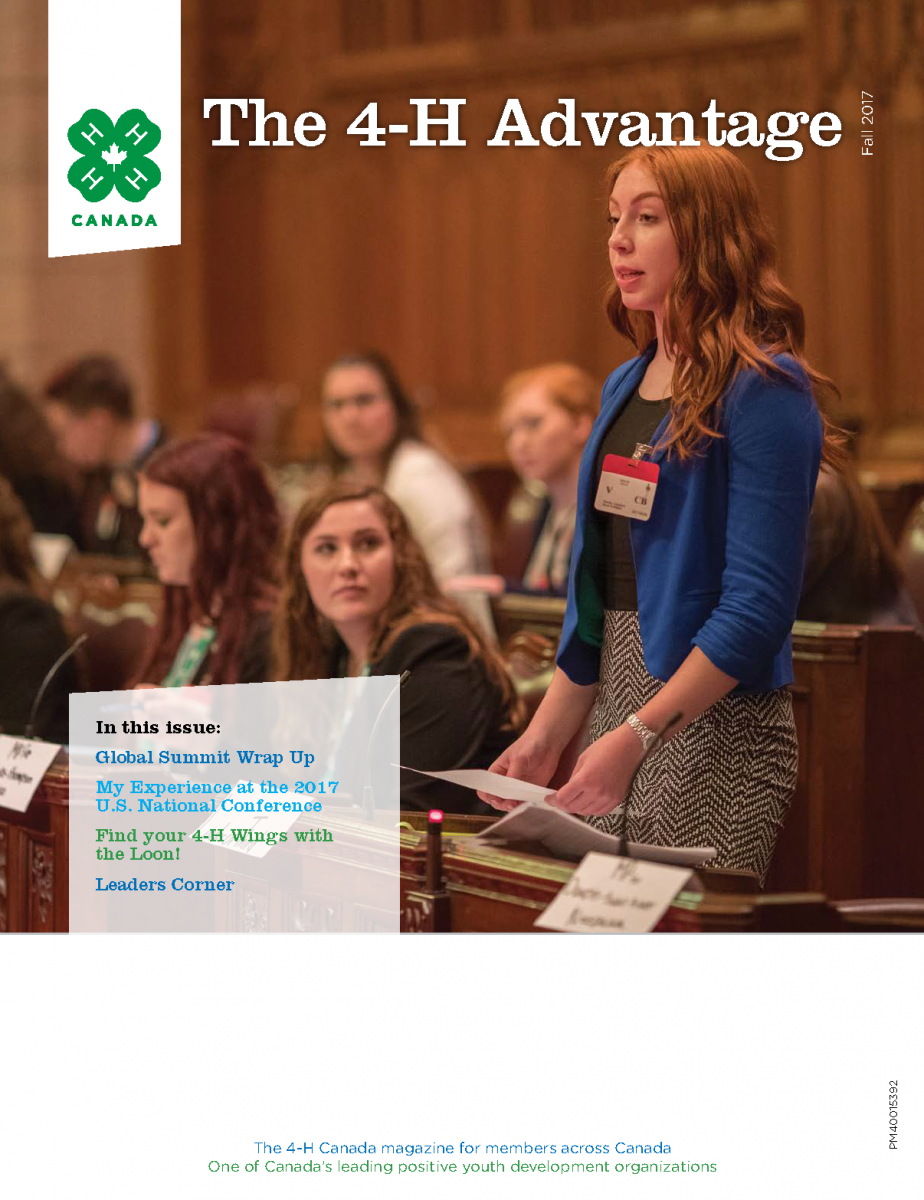Cover of 4-H Advantage Fall 2017
