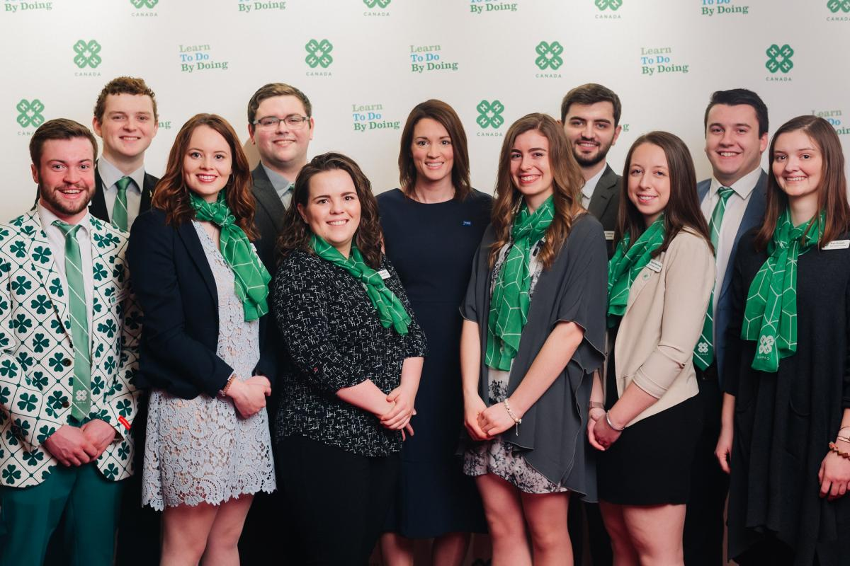 Youth Advisory Committee is pictured here with Nicole McAuley from BASF