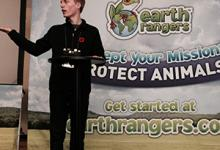 Cameron Choquette visits Earth Rangers during 2015 4-H Canada Members Forum
