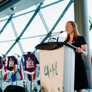 Mackenzie Kerr at 2017 Global 4-H Network Summit